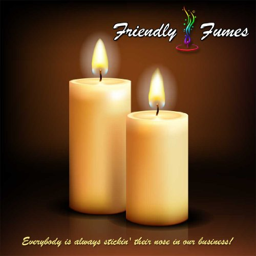 Friendly Fumes Round Soy Candle Pillar 249-Light-Yellow-S...