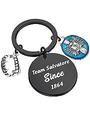 HOLLP Vampire Diaries Inspired Jewelry Salvatore Stefan Fans Gift Team Salvatore Stefan Since 1864 Keychain Gift for Vampire Diaries TV Fans