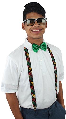 Enimay Unisex Halloween Nerd Geek Costume Adjustable Suspender