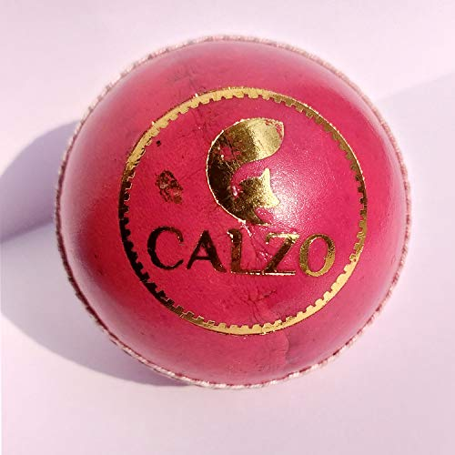Calzo Leather Cricket Ball, Size  Red