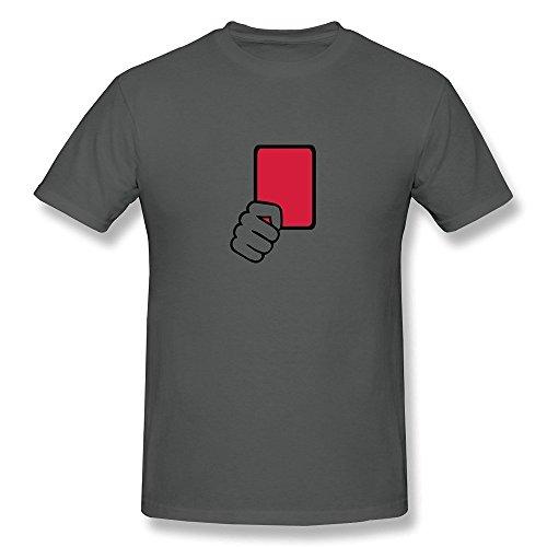 WSB Men's T Shirts Fashion Red Card Referee Design T Shirts DeepHeather Size XXL (Unlocked Wholesale Cell Phones)