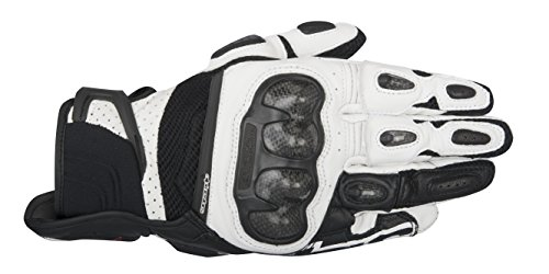 Alpinestars SP-X Air Carbon Men's Street Motorcycle Gloves - Black/White / Small