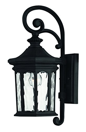 Hinkley 1600MB Traditional One Light Wall Mount from Raley collection in Blackfinish, Raley Outdoor Lantern