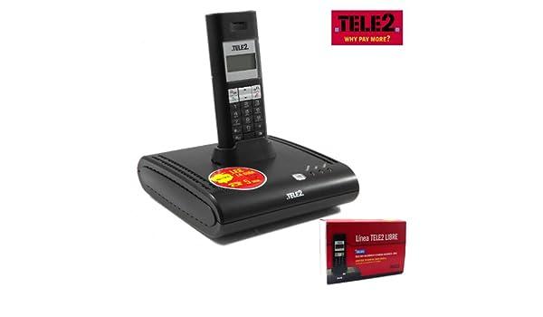 Teléfono Inalámbrico INALÁMBRICO TELE2 LIBRE LINEA BASE CABLE HOME OFFICE 8760F8: Amazon.es: Electrónica