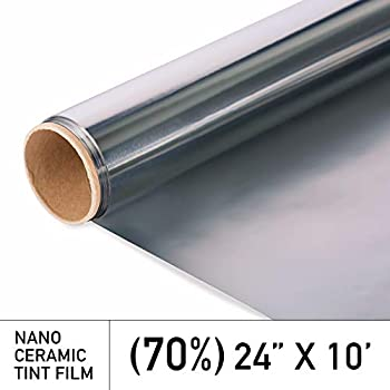 BULK ROLL Window Tint Film Tinting Shade 20/% VLT 2 PLY Roll VVIVID8 15ft x 5ft