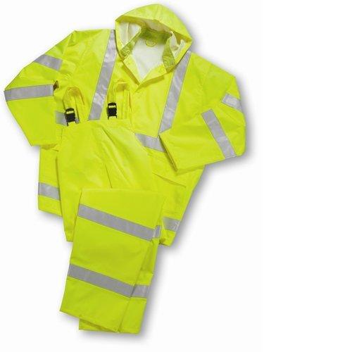 West Chester 4033 XX2XL Hi Vis Rain suit Class 3, 4XL, Lime