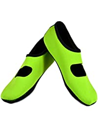 Mary Janes Women's Shoes, Best Foldable & Flexible Flats, Slipper Socks, Travel Slippers & Exercise Shoes, Dance Shoes, Yoga Socks, House Shoes, Indoor Slippers, Green, Extra Large