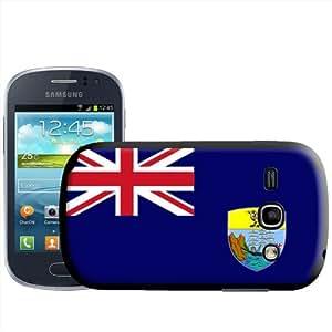Fancy A Snuggle - Carcasa rígida para Samsung Galaxy Fame S6810, diseño de bandera de Santa Elena
