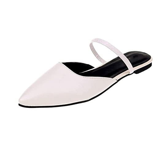 05c277660b05 Women Sandals Slip Ons Cutout Flats Closed Toe Summer Shoes Slippers Low  Heels Indoor Outdoor Beach