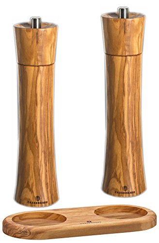 Stand Olive Wood - Zassenhaus Pepper and Salt Mill Set Olive 9.4-inch with Stand