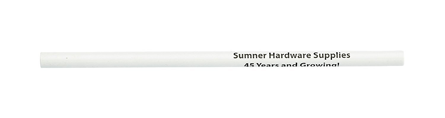 Pencil Guy Personalized Imprinted Untipped White Round Pencil, no Eraser - 1000 per Box