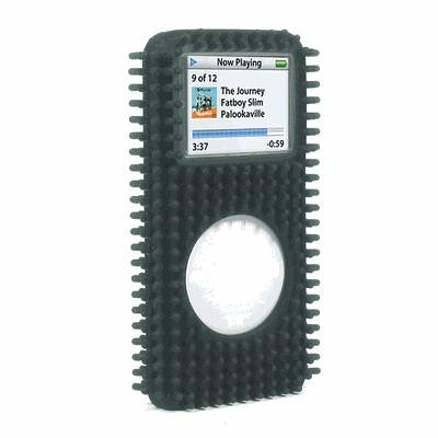 Speck FunSkin Case with Belt Clip and Screen Protector for iPod nano 1G (Black Grass)