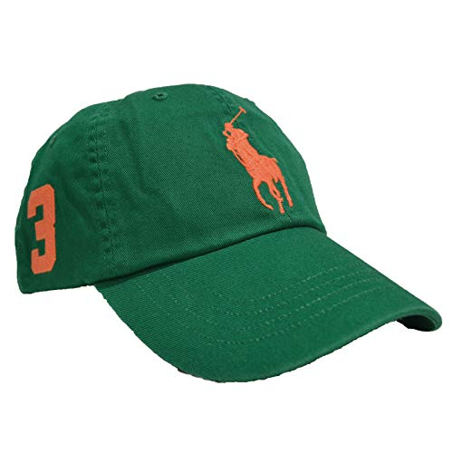 Polo Ralph Lauren Mens Adjustable Big Pony Baseball Cap (One Size, Light Green)
