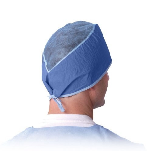 Medline NON28626 Disposable Surgeon's Caps, SMS, Latex Free, Dark Blue (Pack of 500) by Medline