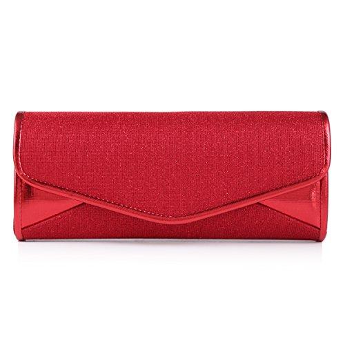 Damara - Bolso de mano Para Mujer, diseño Purpurina Red