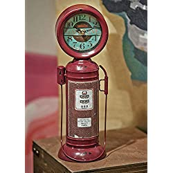 KensingtonRow Home Collection Clocks - Fill 'ER UP Vintage Gas Pump Tabletop Clock - Mens Gifts - Americana