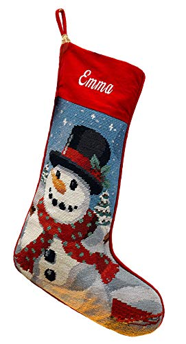 Needlepoint Christmas Stocking: Frosty -