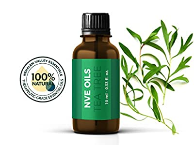 Pure Tea Tree Essential Oil By NVE Oils-Guaranteed 100% Pure & Natural For Diffuser, Aromatherapy, Headache, Pain, Meditation, Stress, Anxiety, Sleep, Cosmetics, Soaps, Candles, Skin Care, etc.