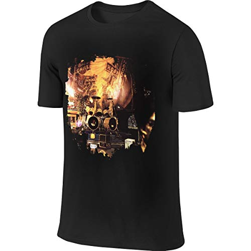 Menshort Sleeve Graphic Print Tee Shirts Prince Sign 'o' The Times Relaxed with Graphic Print M Black ()