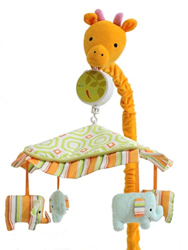 - My ABCs Friends Giraffe Musical Crib Mobile Elephants, Jungle Safari