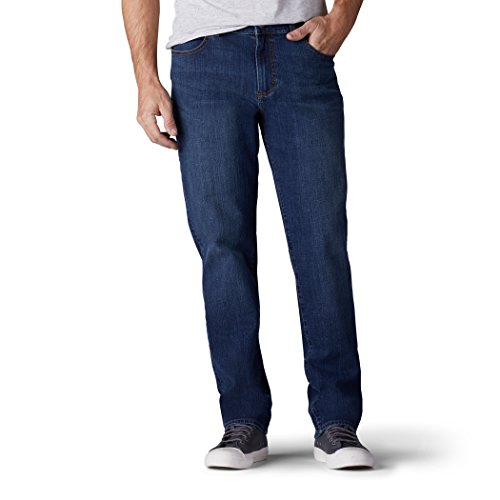 Leg Jeans Tapered Mens - LEE Men's Modern Series Regular Fit Tapered Leg Jean, Mastermind, 33W x 32L