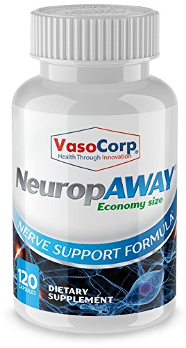 NeuropAWAY Nerve Support Formula - Economy Size - Nerve Health, Burning Feet, Tingling, Numbness, Pain in Legs (120 Capsules Day)
