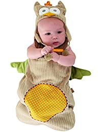 """""""My Little Night Owl"""" Snuggle Sack and Cap, 0-6 months"""