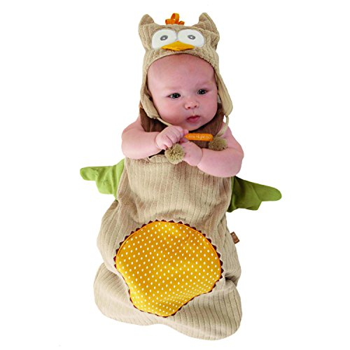 Baby Aspen, My Little Night Owl Snuggle Sack and Cap, 0-6 Months
