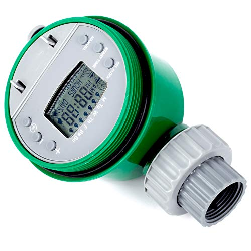 One Outlet Programmable Hose Faucet Timer – Automatic On Off Water Faucet Timer with Rain Delay, Manual Control to Perfectly Water Your Garden, Plants and Patio