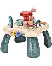 Baby-activiteitentafel Muzikaal Speelgoed, Mini-speltafel, Baby-educatie Meerdere Modi Game Activity Center-speelgoed, Vroeg Leren Speeltafel, Interactief Speelgoed Voor Voor Baby 6-24 Maanden