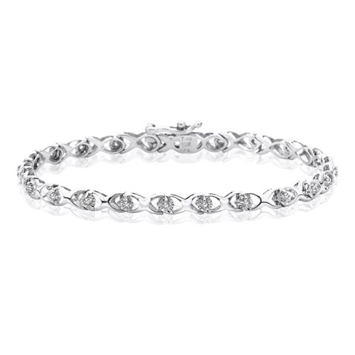 10K White Gold 1/4 (.25) ct KL Diamond Tennis Bracelet
