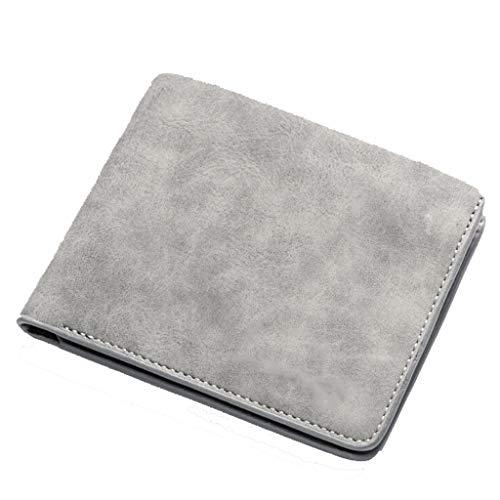Vertical Gray Taille Étudiant Size couleur Pour One Nouveau Homme Portefeuille Court Achats Scrub Gray Retro 6IqSZP