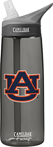 NCAA Auburn Tigers Unisex CamelBak Eddy 75L Collegiate Water Bottle, CHARCOAL, 75 Liter (Auburn Bottle Tigers)