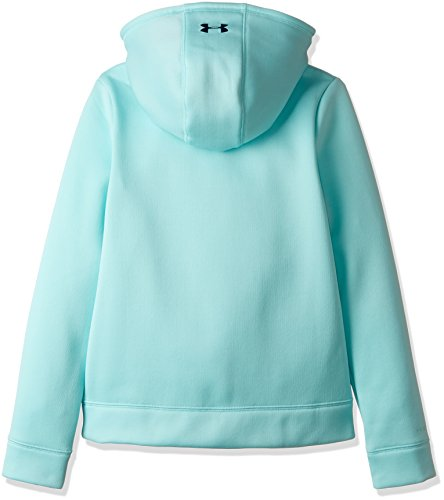 Under Armour Girls Armour Fleece Wordmark Hoodie, Blue Infinity/Blue, X-Large/18-20 Big Kids by Under Armour (Image #2)