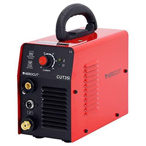 Plasma Cutter, HeroCut 35i Single Phase 110V, 30A Inverter Air Plasma Cutting Machine, IGBT, 4mm Clean Cut, 8mm Servance Max Cut, Easy Cut Carbon Steel, Stainless Steel, Thin Copper, Aluminum