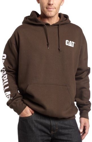 Caterpillar Big and Tall Trademark Banner Hooded Sweatshi...