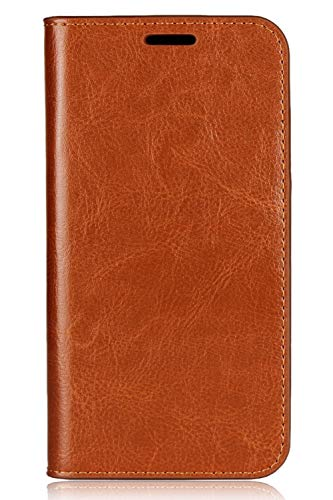 MOTO X (4th Generation) Wallet Case, Stand View Book Style PU Leather Flip Cover with Card Slots, Brown