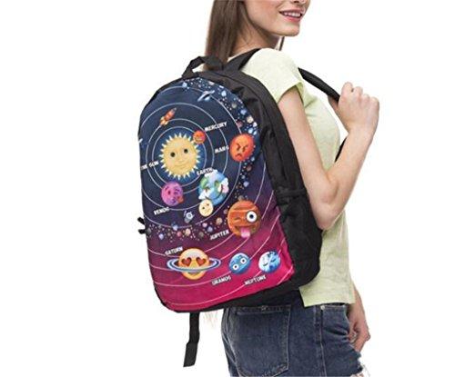 Great Strange Double Schulter Rucksack Drucken emoji Star Wars Student Schultasche Travel School Kinder 44 * 14cm