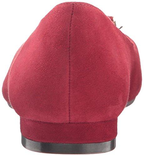 Aerosoles Womens Buoni Tempi Slip-on Loafer In Pelle Scamosciata Rosso Scuro