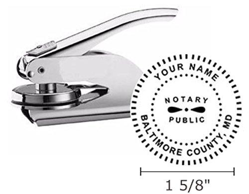 (Maryland Notary Seal Embosser, Pocket/Hand Model, 1-5/8