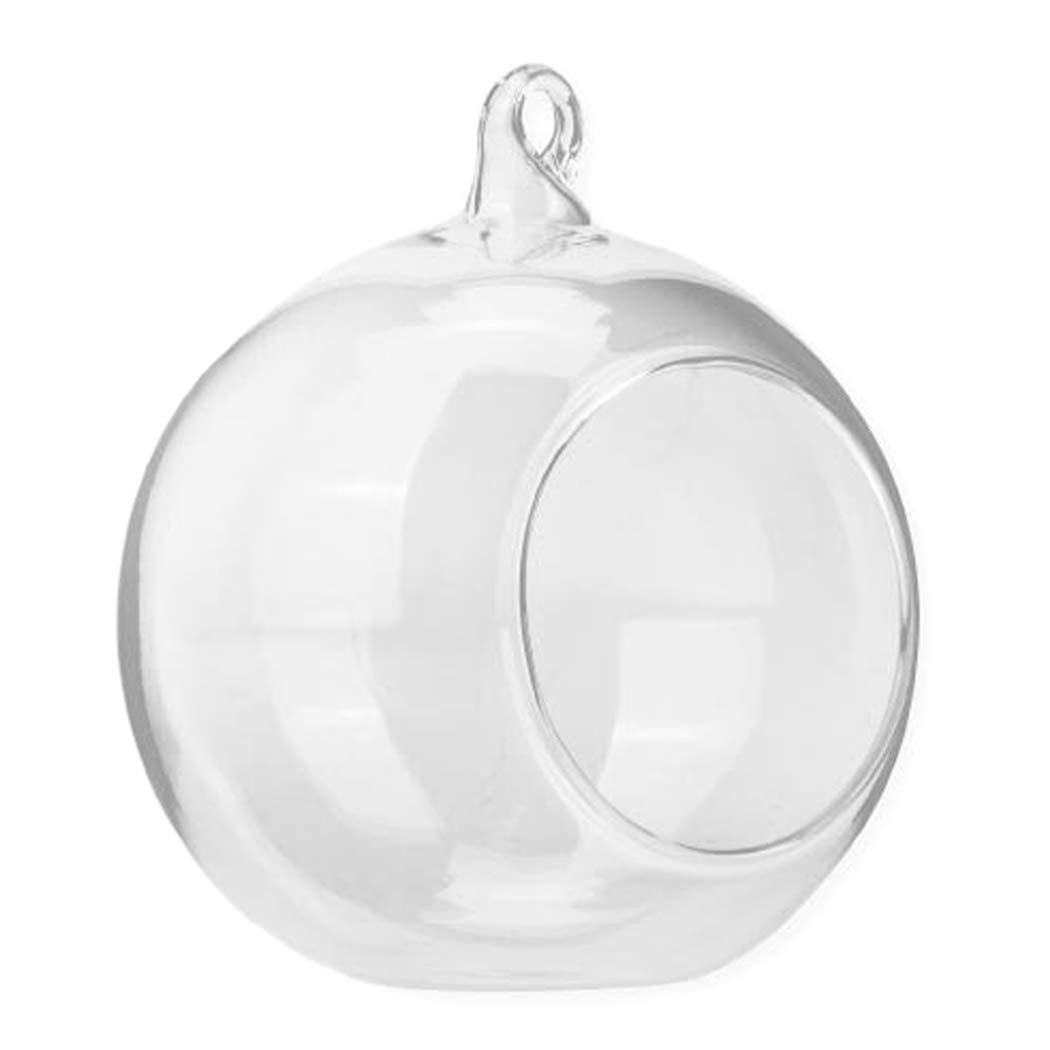 youseexmas Photophore Boule en Verre Transparentes Suspendre Vase Boules Terrarium Pour Plantes Fleurs Diam/ètre 10cm Lot de 4