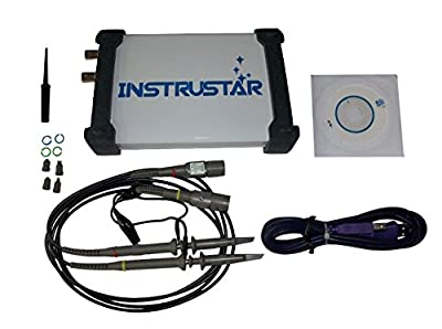 PC USB 40M 2CH Digital Oscilloscope Spectrum Analyzer 1KB-256KB/CH 100MS/s
