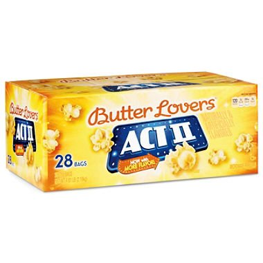 ACT II Butter Lovers Microwave Popcorn - 28/3oz