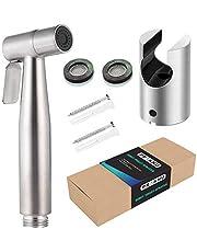 Bidé handdusch med fäste rostfritt stål inkluderar 2 tätningar rostsäker intim dusch toalett duschset