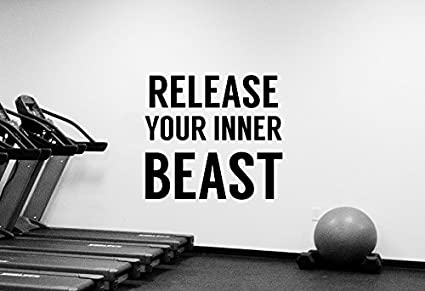 Gym Quote Wall Decal Motivational Vinyl Sticker Release Your ...