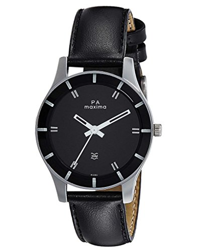 Maxima Analogue Black Dial Attivo Collection Watch for Women 41281LMLI