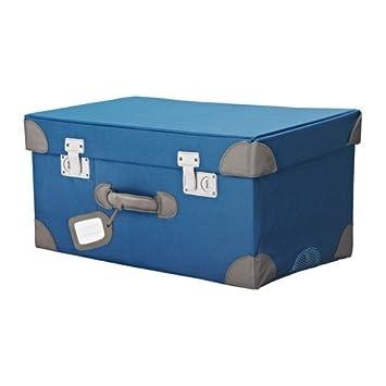 IKEA PYSSLINGAR Spielzeugkoffer in blau: Amazon.de: Küche & Haushalt
