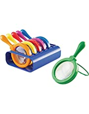 Learning Resources Primary Science Jumbo Magnifiers with Stand, Set of 6 Magnifiers, Ages 3+