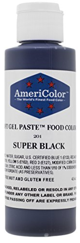 Food Coloring AmeriColor - Super Black Soft Gel Paste, 4.5 Ounce -