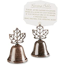 "Kate Aspen ""Lustrous Leaf"" Kissing Bell Place Card/Photo Holder, Set of 24"